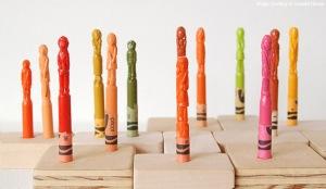 منحوتات الألوان الشمعية! Crayons5
